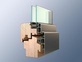 Profily dřevohliníkových balkonových dveří