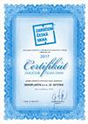 Certifikát českého výrobku