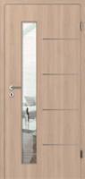 Interiérové dveře s nerezovými pásky PRECISO