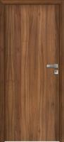 Jednokřídlé dřevěné dveře plné s polodrážkouv ocelové nebo obložkové zárubni