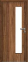 Jednokřídlé dřevěné dveře prosklené K2 v ocelové nebo obložkové zárubni