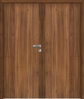 Dvojkřídlé dřevěné dveře plné, kazetové i prosklené