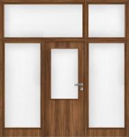 Jednokřídlé dřevěné dveře plné i prosklené s bočními světlíky i nadsvětlíkem